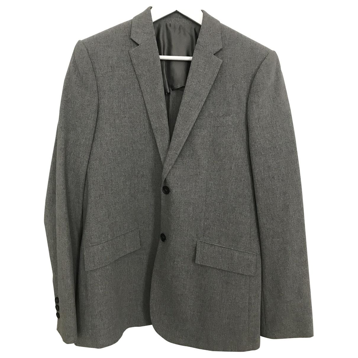 Balenciaga \N Jacke in  Grau Baumwolle