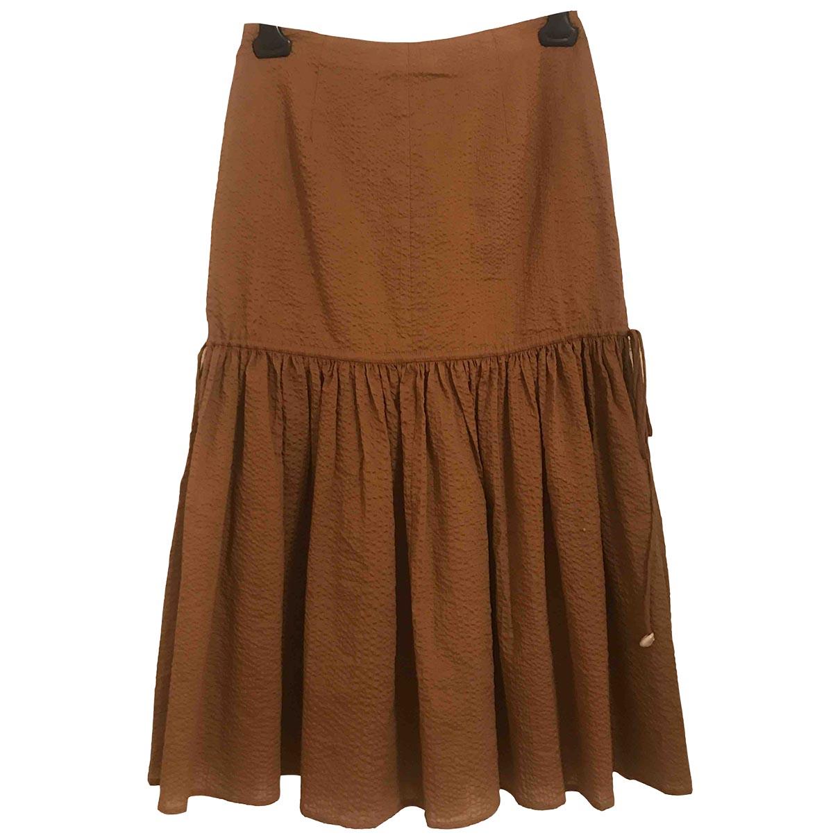 Marysia - Jupe   pour femme en coton - marron