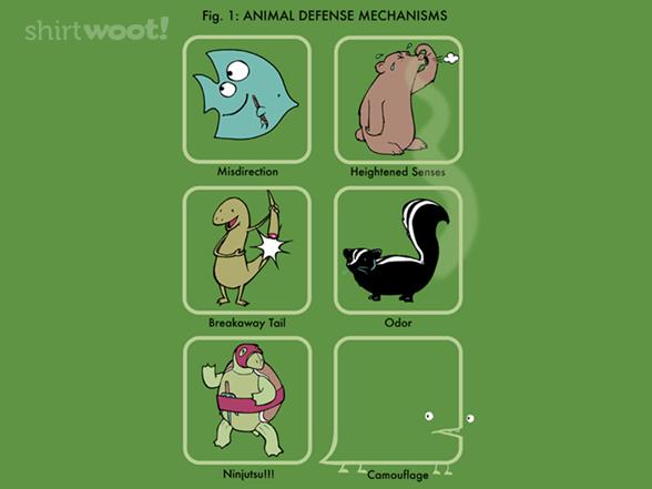 Animal Defense Mechanisms T Shirt