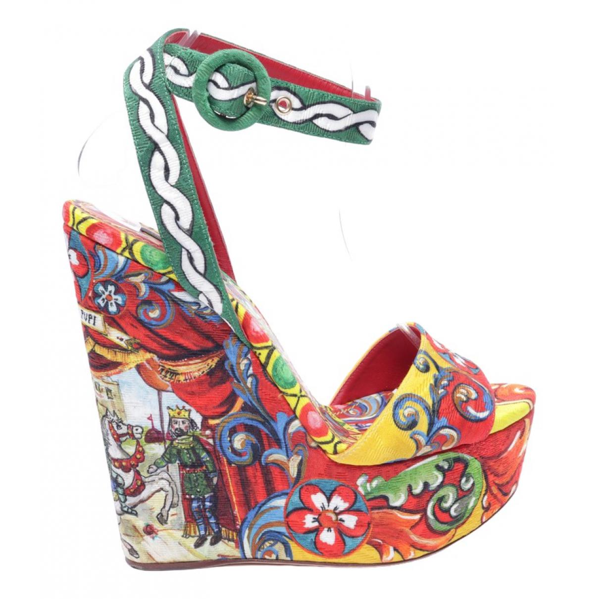 Dolce & Gabbana - Sandales   pour femme en cuir - multicolore