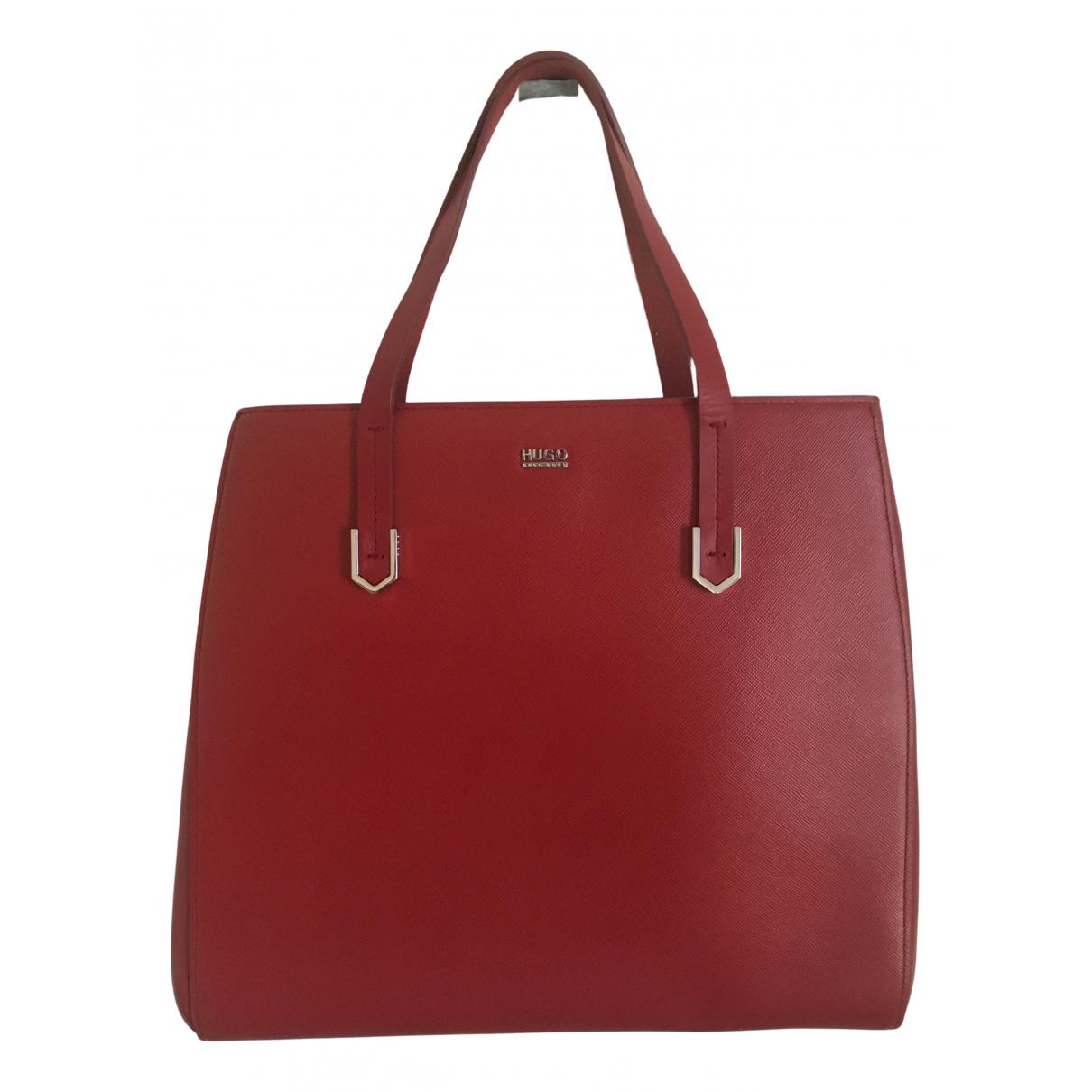 Hugo Boss N Red Leather handbag for Women N
