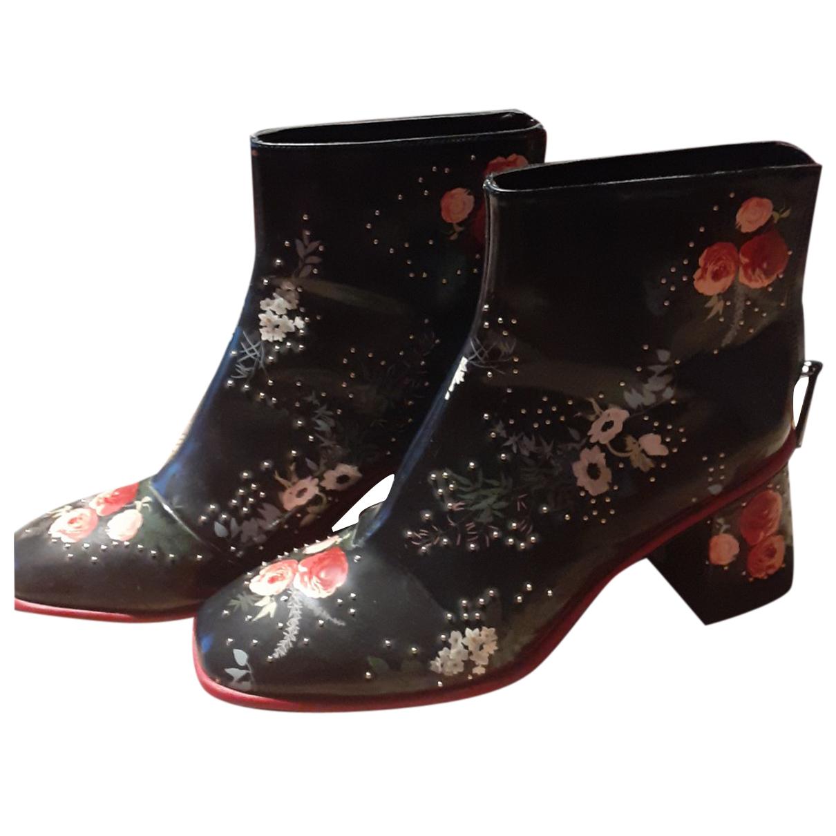 Zara - Bottes   pour femme en cuir verni - multicolore