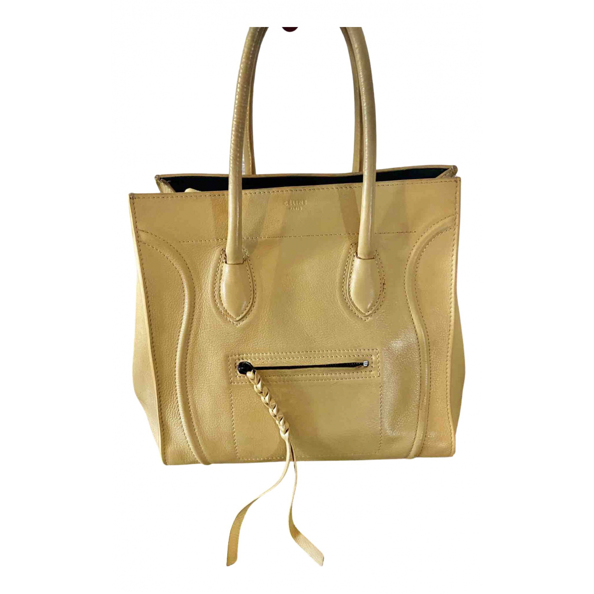Celine Luggage Phantom Yellow Leather handbag for Women N