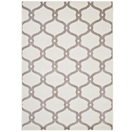 Beltara Collection R-1129C-58 Chain Link Transitional Trellis 5x8 Area Rug in Beige and Ivory
