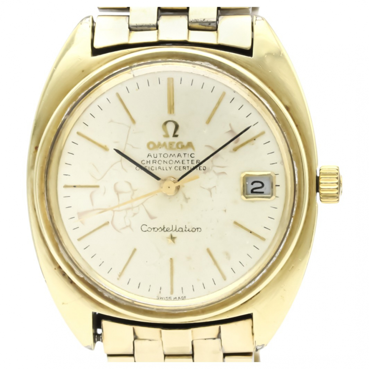 Omega Constellation Silver Gold plated watch for Men \N