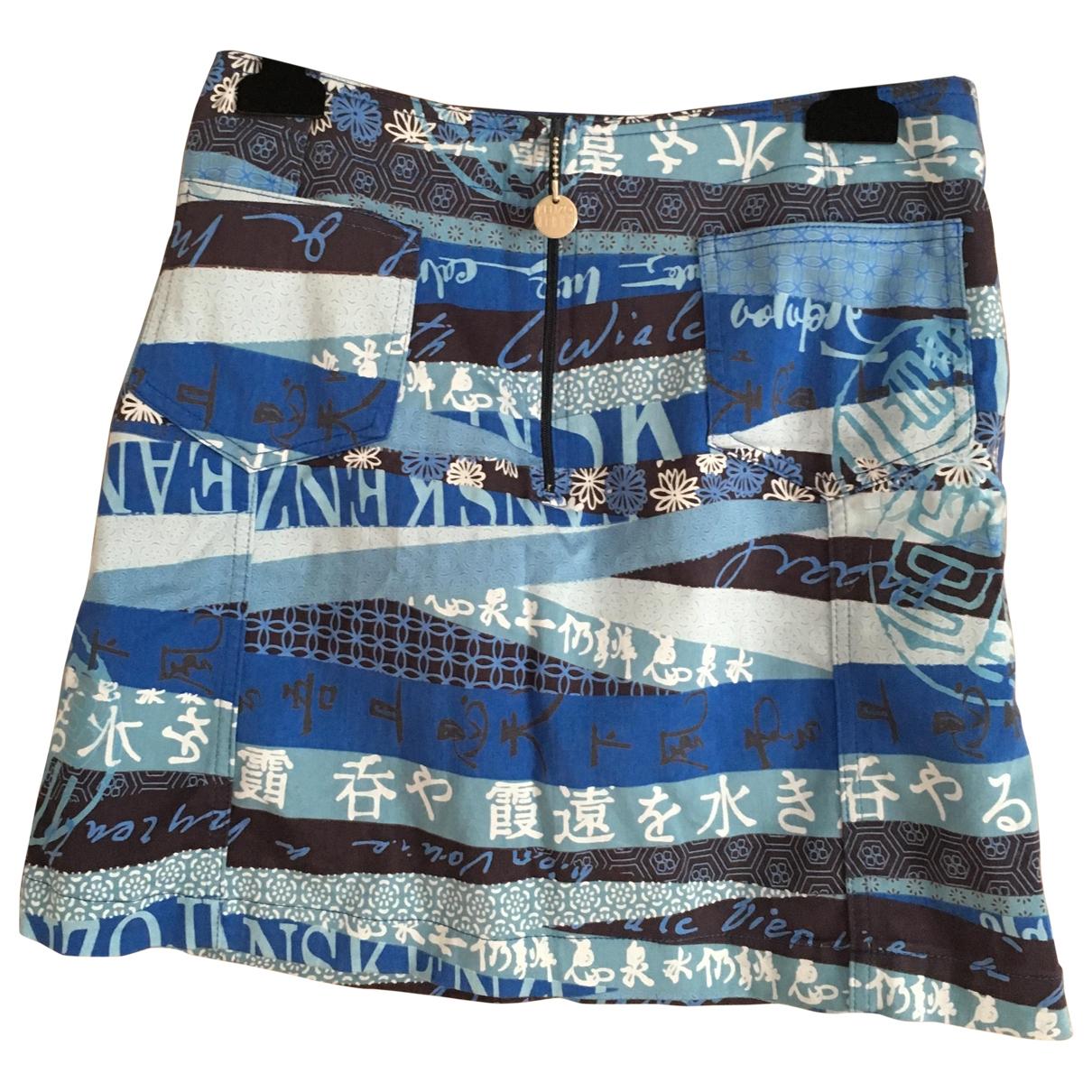Kenzo \N Blue Cotton skirt for Women 40 IT