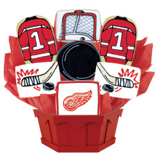 NHL Detroit Red Wings Cookie Bouquet