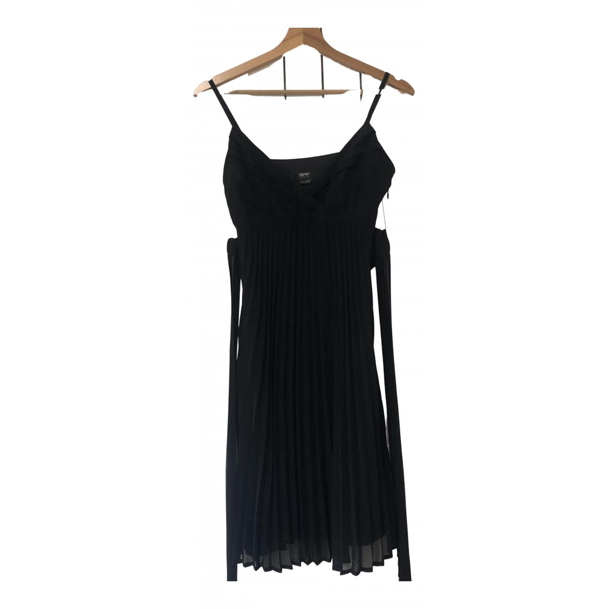 Esprit \N Kleid in  Schwarz Synthetik