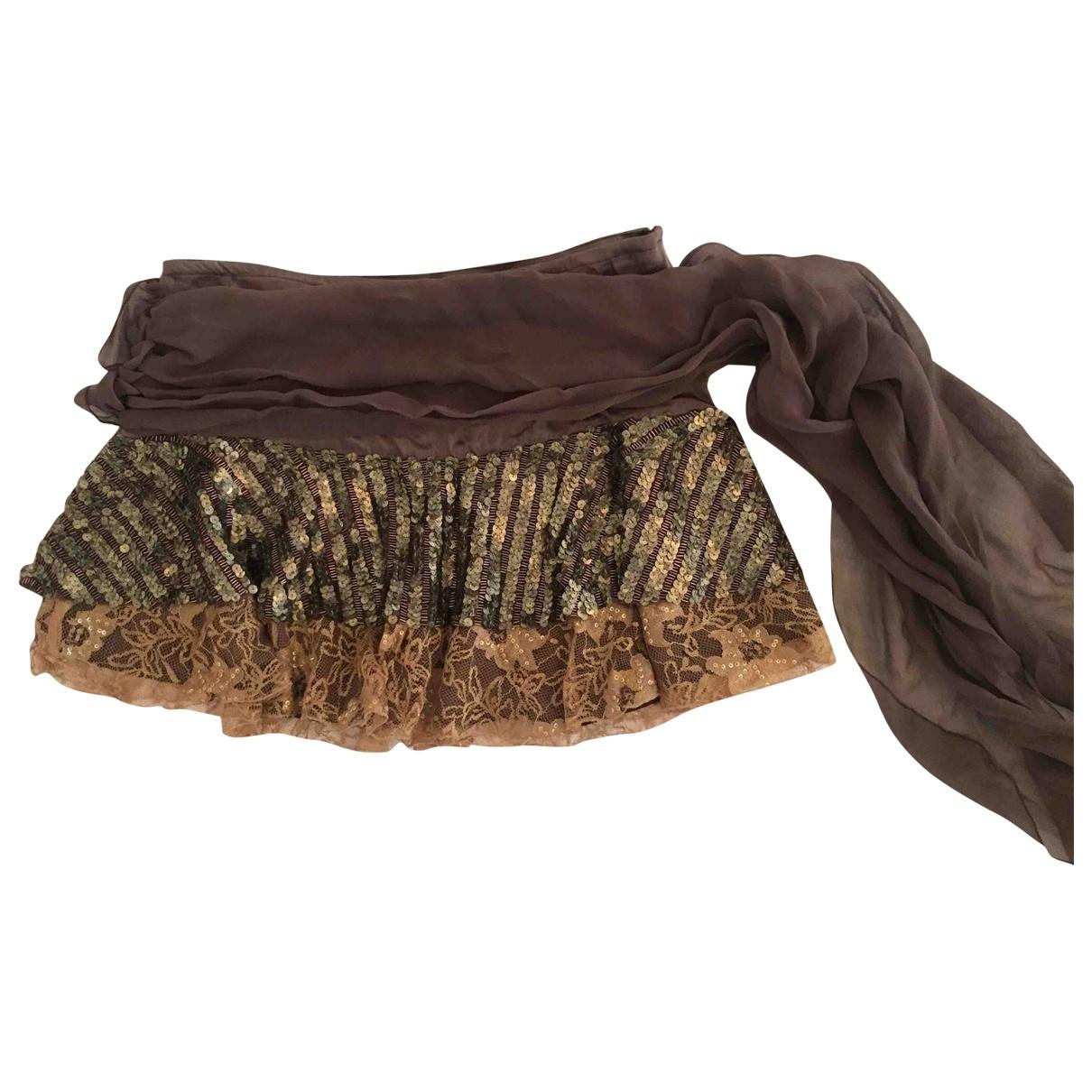 Pinko \N Brown Silk skirt for Women S International