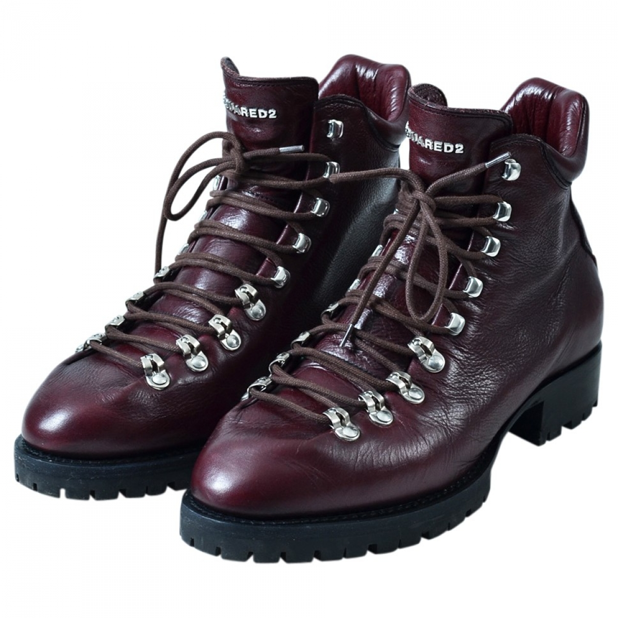 Dsquared2 \N Stiefel in  Bordeauxrot Leder