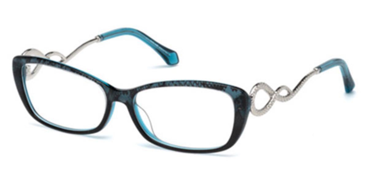 Roberto Cavalli RC 5010 ASCIANO 092 Women's Glasses Blue Size 54 - Free Lenses - HSA/FSA Insurance - Blue Light Block Available