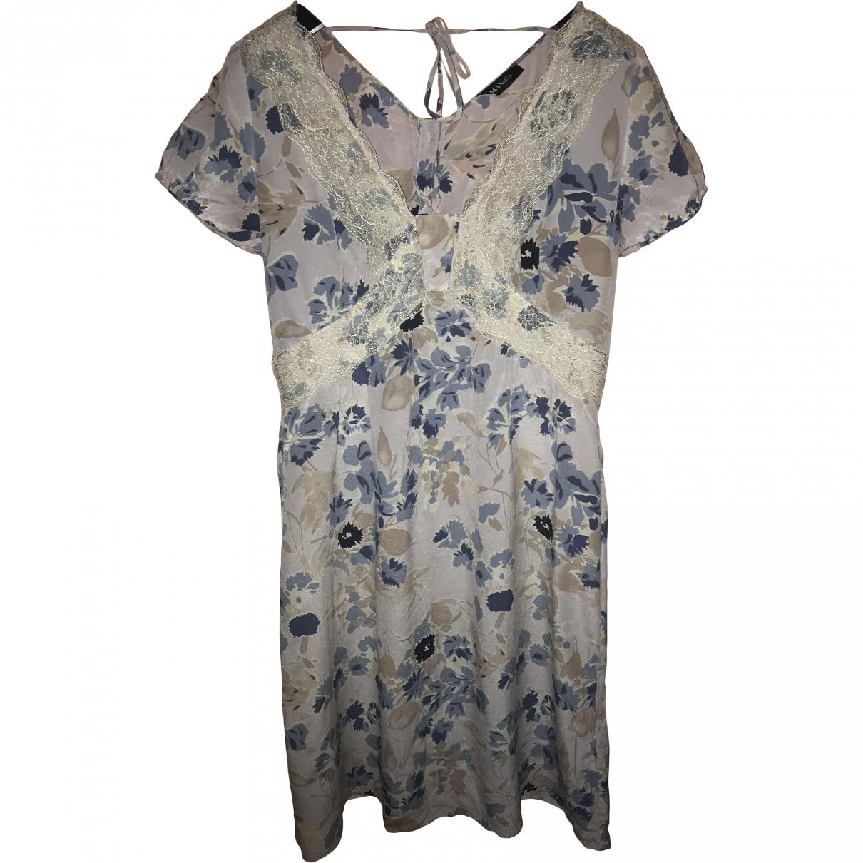 Max & Co \N Kleid in  Blau Seide
