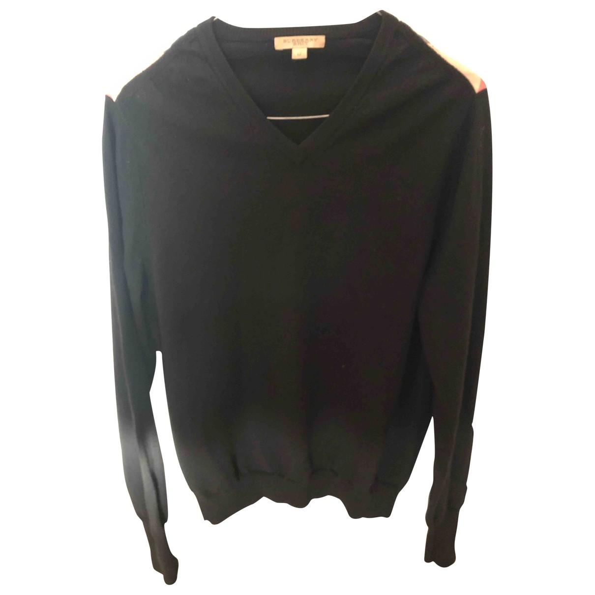 Burberry \N Pullover.Westen.Sweatshirts  in  Schwarz Wolle
