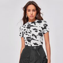 Camisetas Animal Blanco Casual