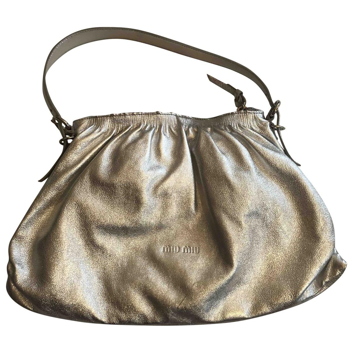 Miu Miu \N Silver Leather handbag for Women \N