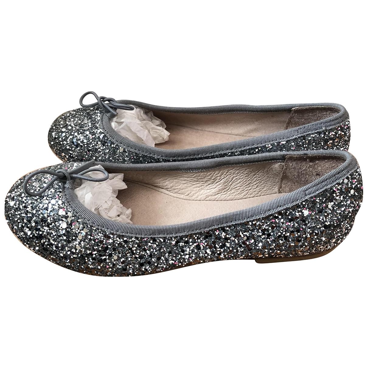 Bloch \N Ballerinas in  Silber Leder