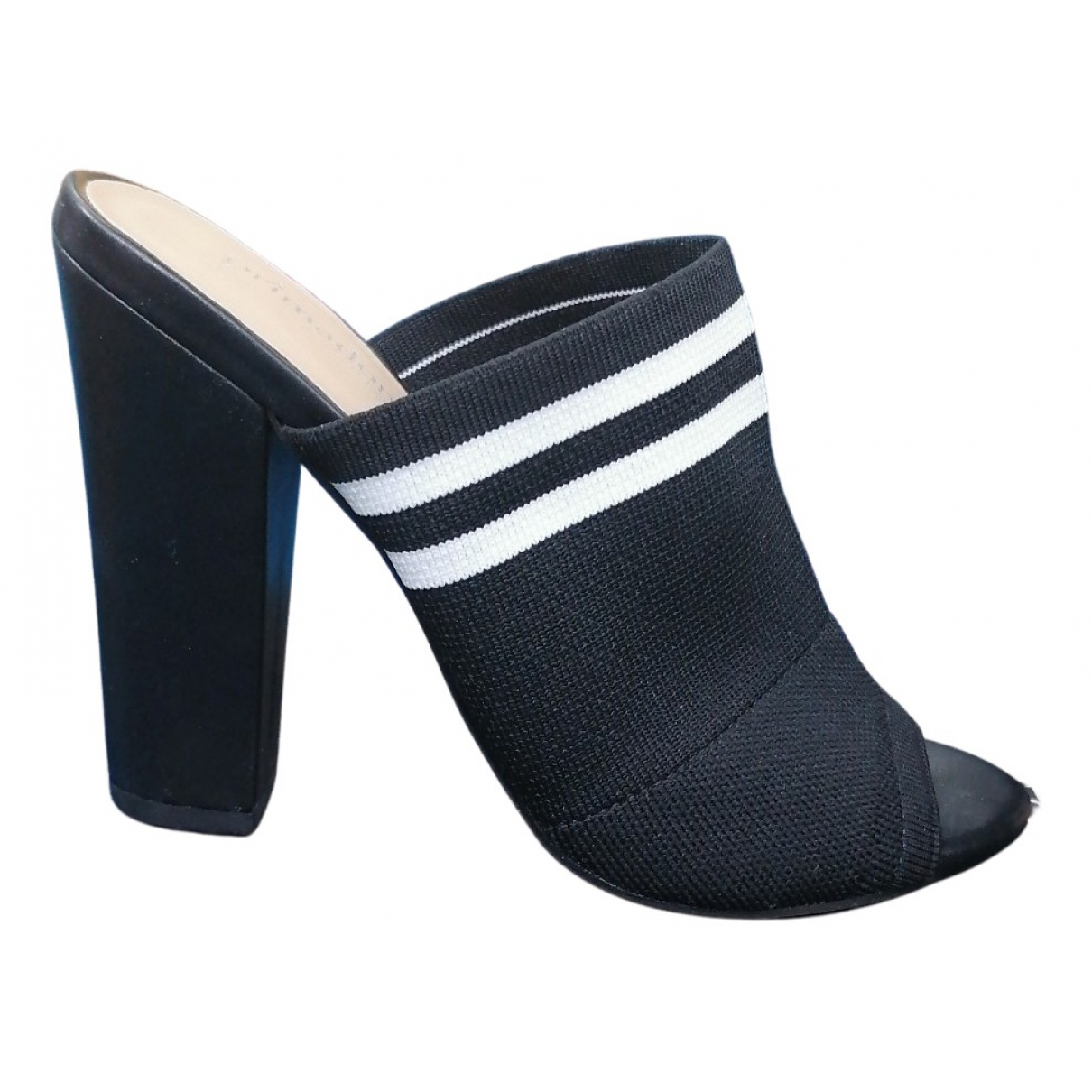 Non Signé / Unsigned N Black Cloth Sandals for Women 38 IT