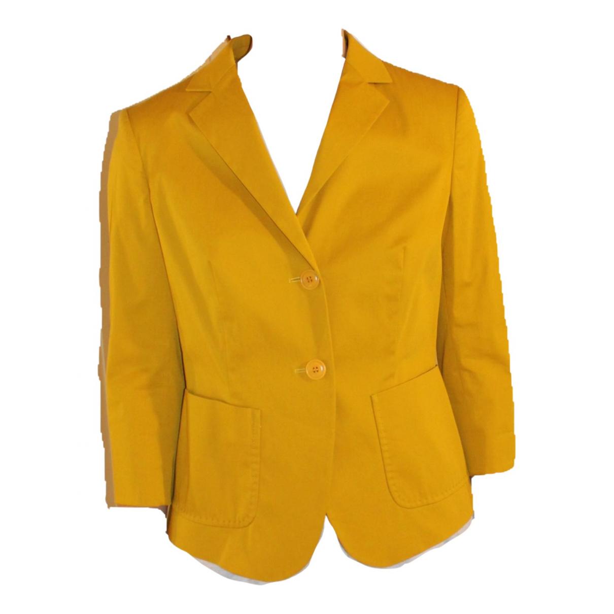 Max Mara Weekend - Veste   pour femme en coton - jaune