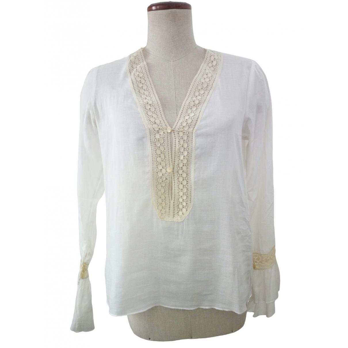 Red Valentino Garavani \N White Cotton  top for Women 40 IT