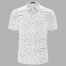 Men Collared Tropical Print Shirt