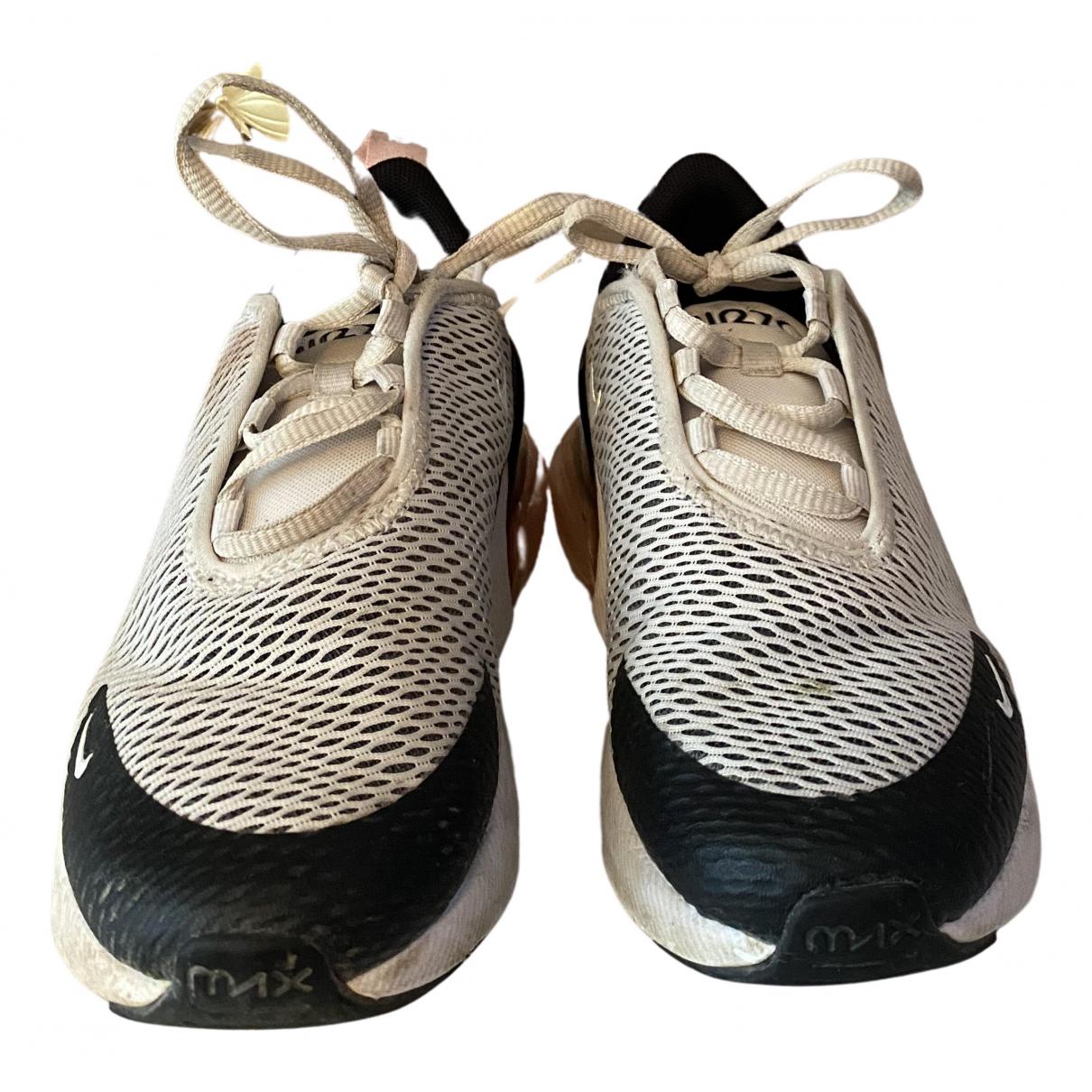 Nike - Baskets Air Max 270  pour enfant en toile - blanc