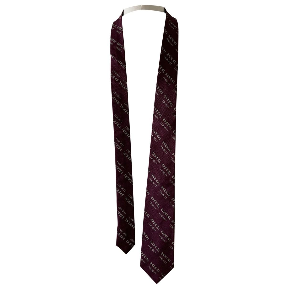 Acne Studios - Cravates   pour homme en soie - bordeaux
