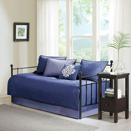 Madison Park Mansfield Quilted Ogee 6-pc. Daybed Cover Set, One Size , Blue