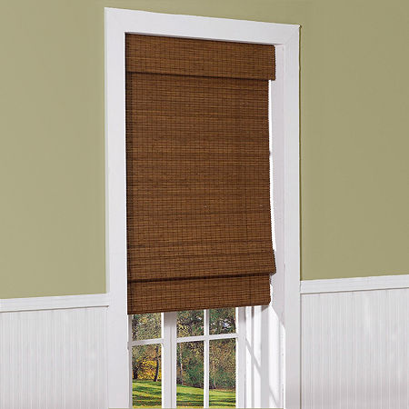 Radiance Cape Cod Cordless Light-Filtering Roman Shade, One Size , Brown