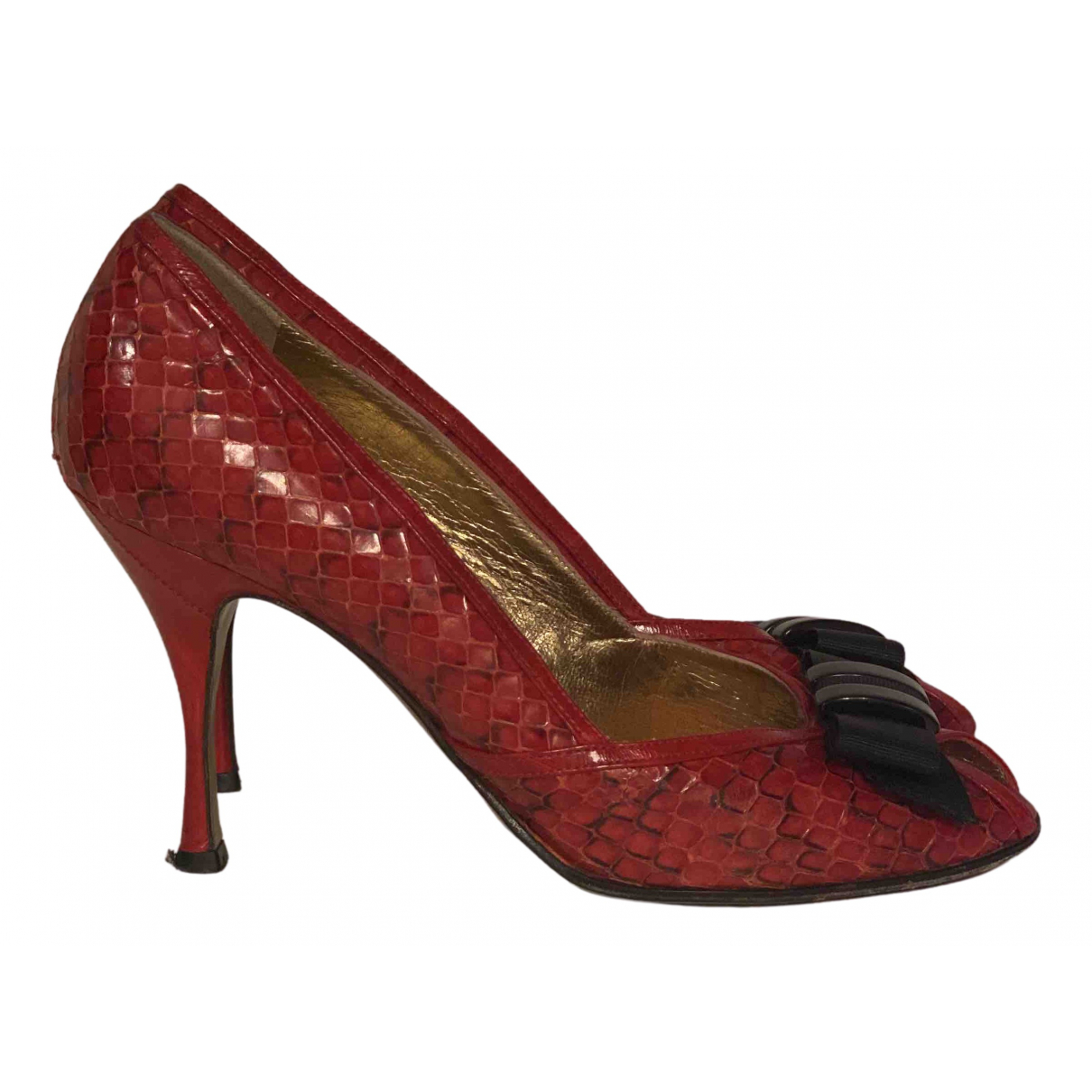 Dolce & Gabbana \N Pumps in  Rot Leder