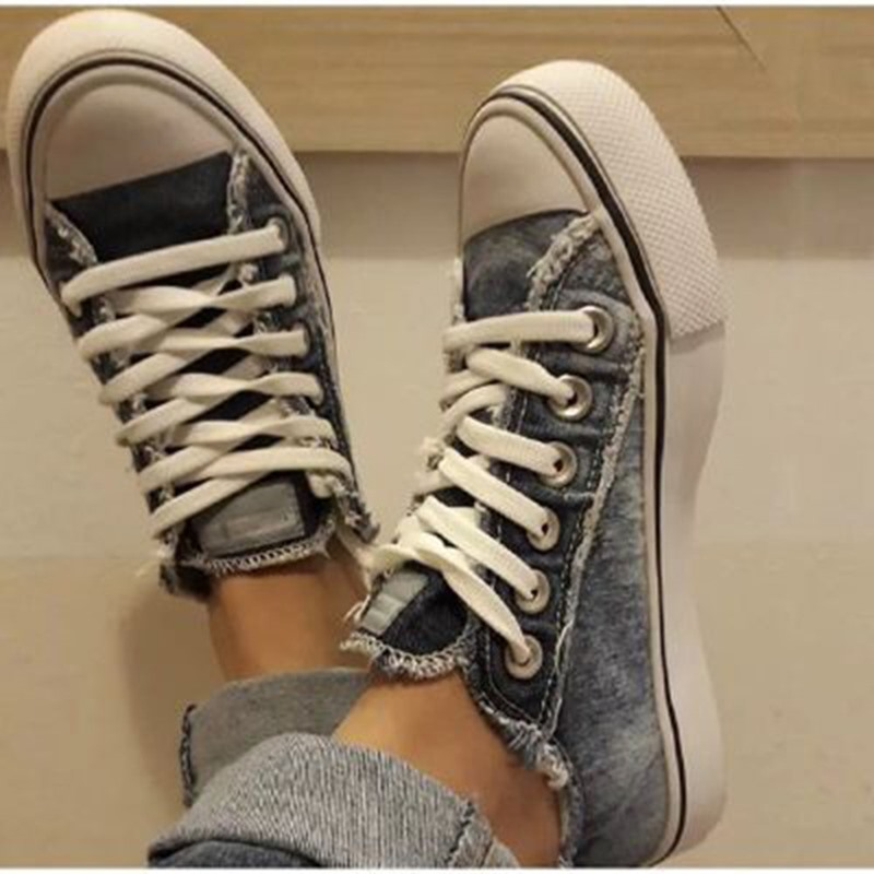 Ericdress Worn Low-Cut Upper Round Toe Canvas Sneakers