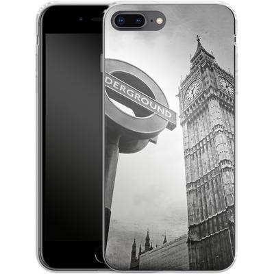 Apple iPhone 8 Plus Silikon Handyhuelle - Big Ben & Underground von Ronya Galka