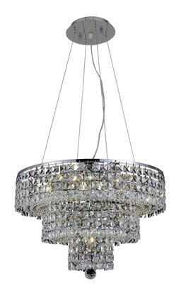 2037D20C/RC 2037 Maxim Collection Hanging Fixture D20in H16in Lt: 9 Chrome Finish (Royal Cut