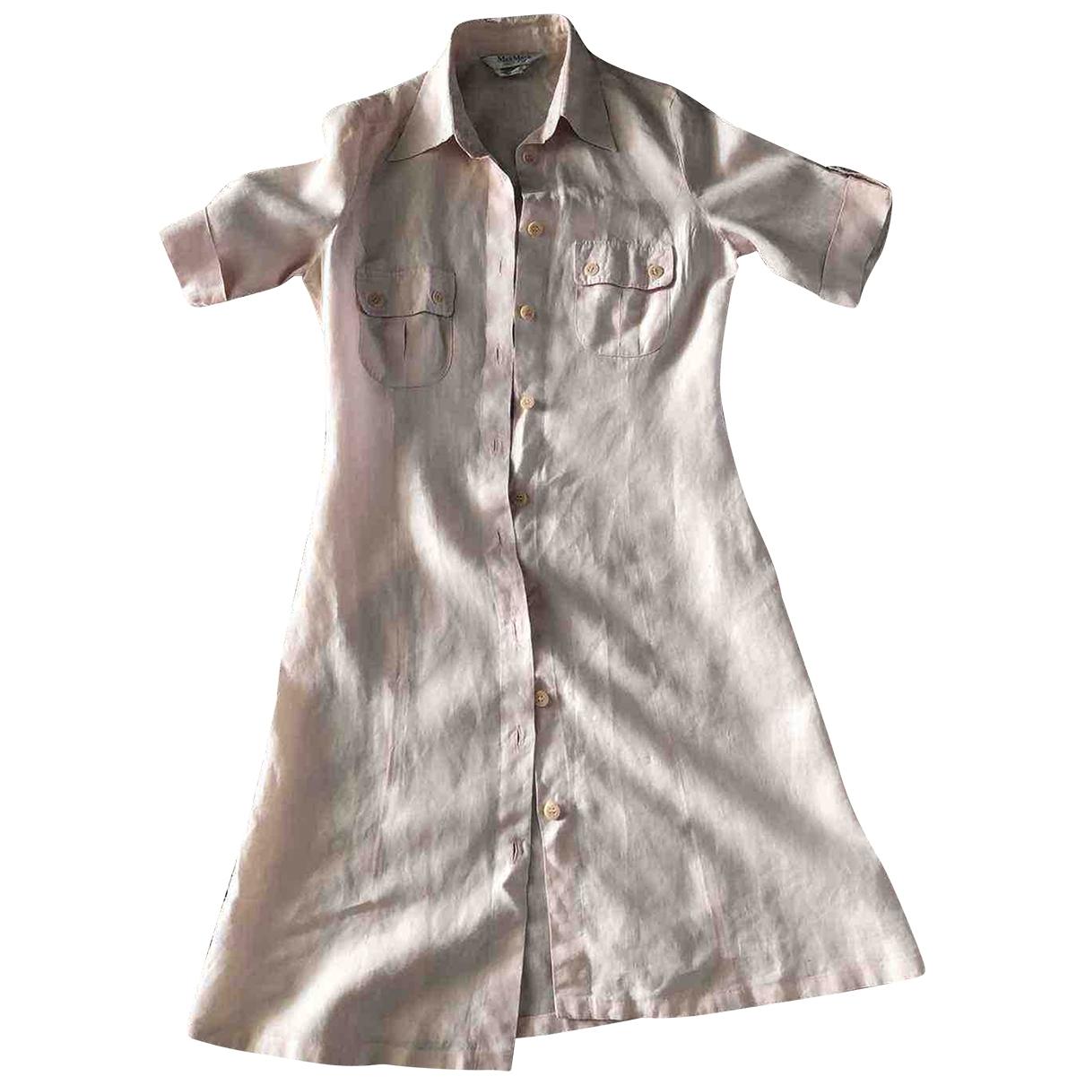 Max Mara \N Kleid in  Rosa Wolle