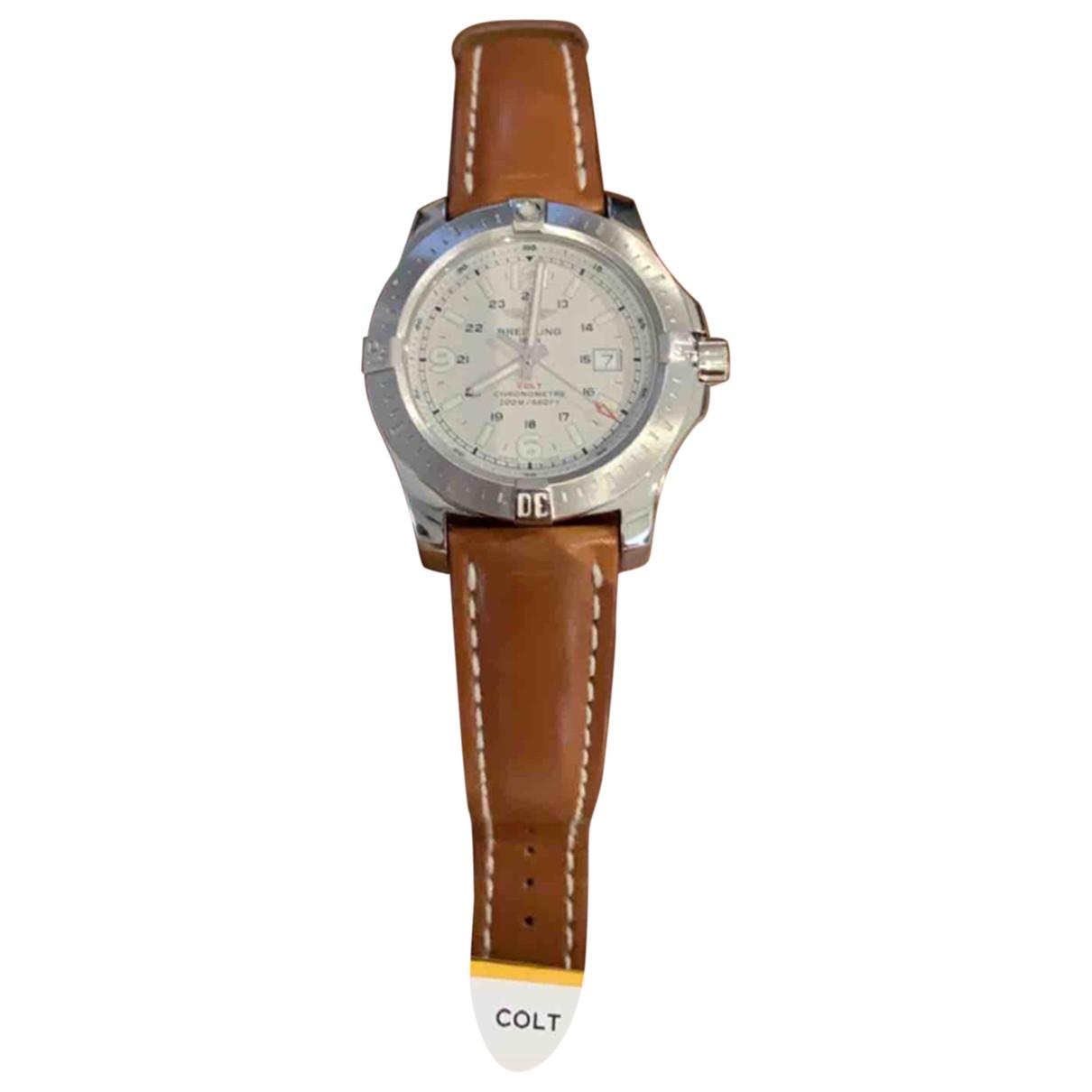 Breitling - Montre Colt  pour homme en acier - blanc
