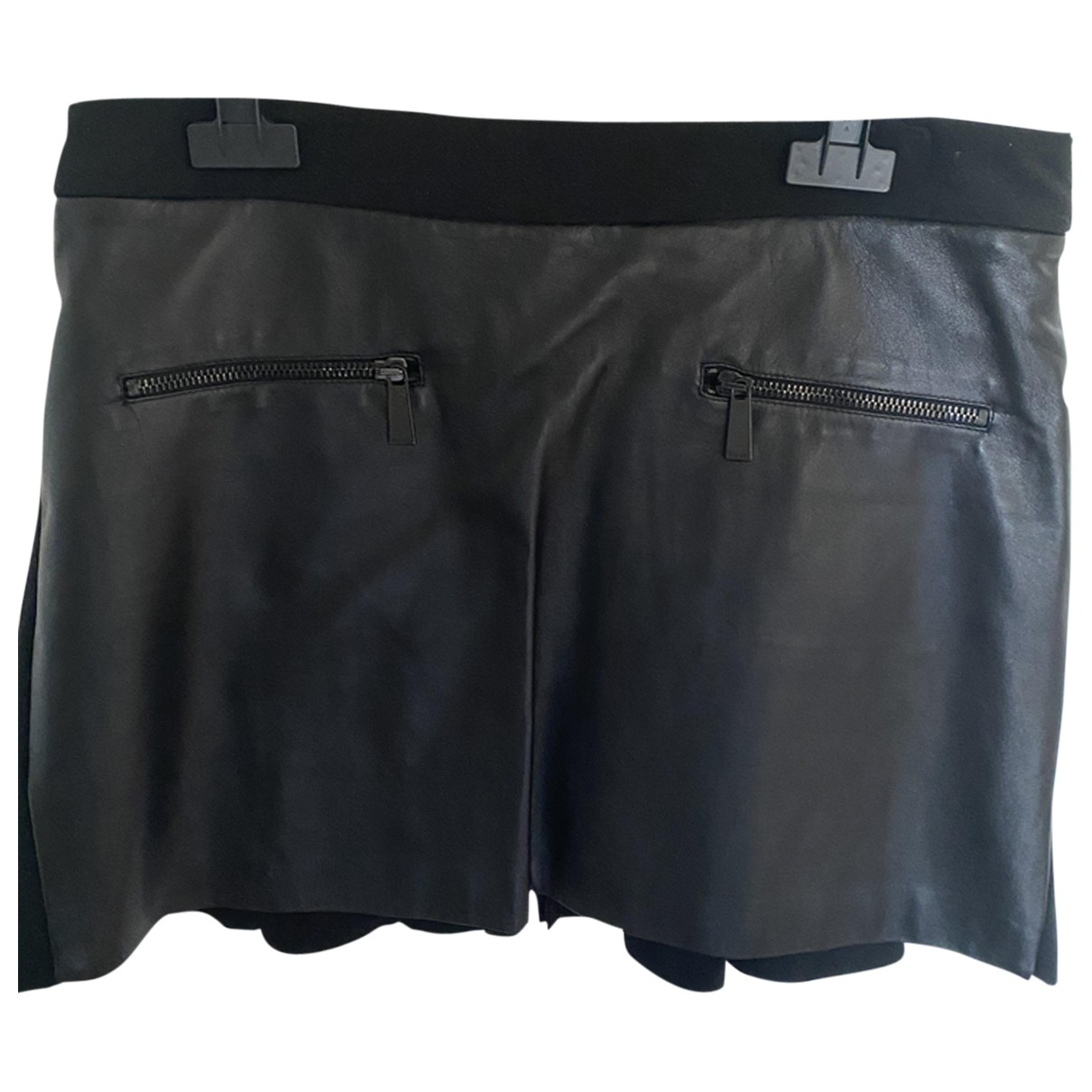 Pinko \N Black Leather skirt for Women 44 IT