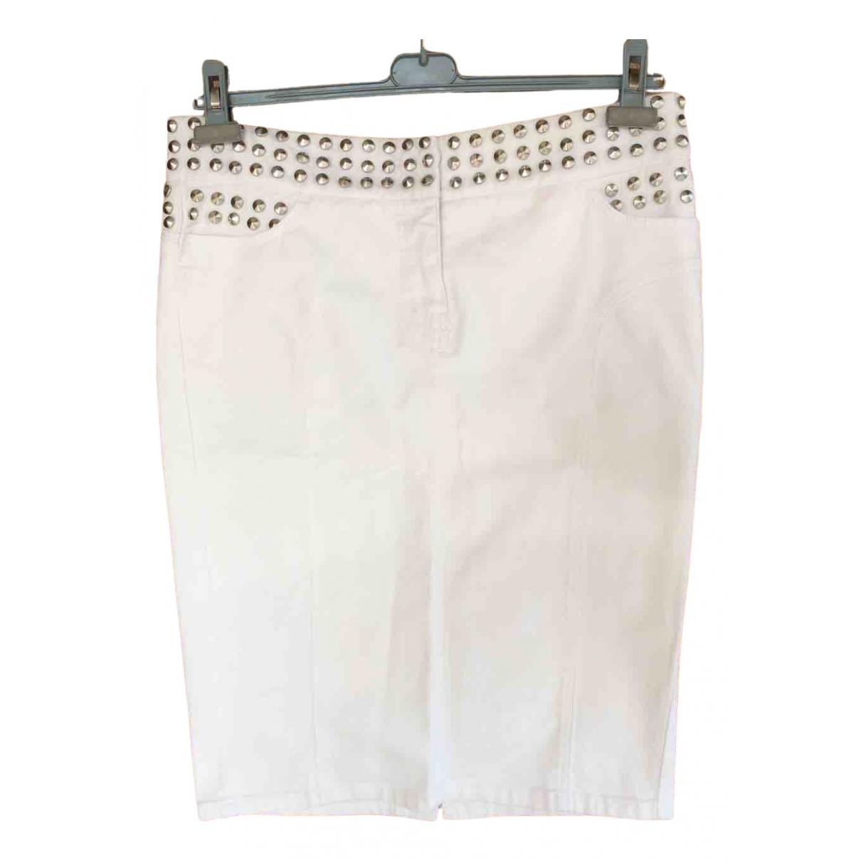Moschino \N Rocke in  Weiss Denim - Jeans