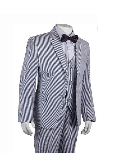 Seersucker Suits Black Stripe ~ Pinstripe Boys ~ Children ~ Kids Suit