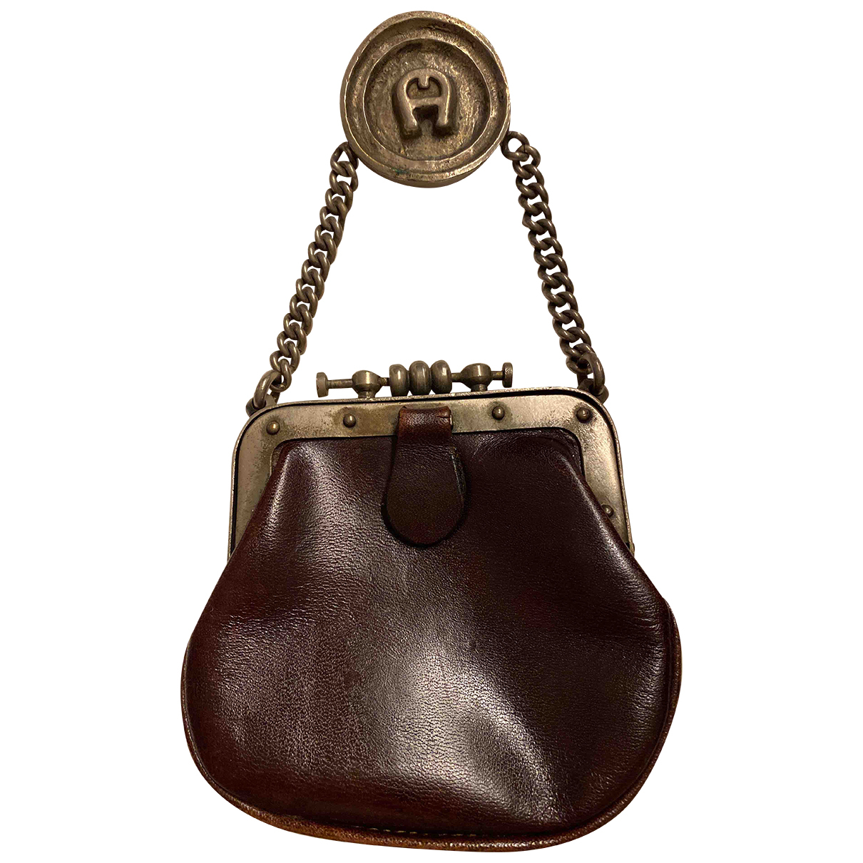 Etienne Aigner N Burgundy Leather Purses, wallet & cases for Women N