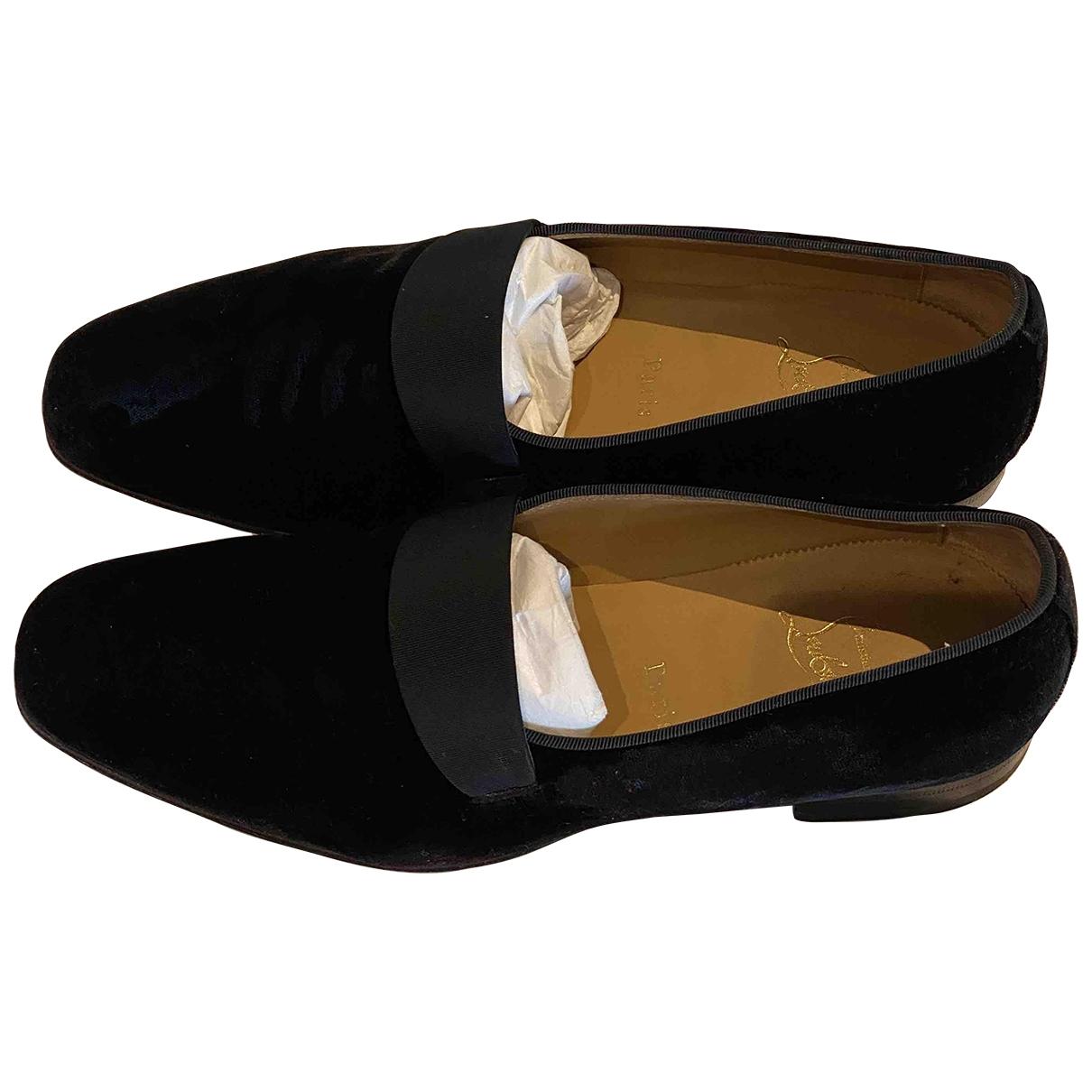 Christian Louboutin \N Black Velvet Flats for Men 40 EU