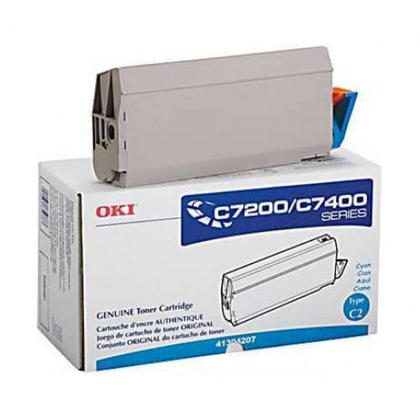 Okidata 41304207 Original Cyan Toner Cartridge