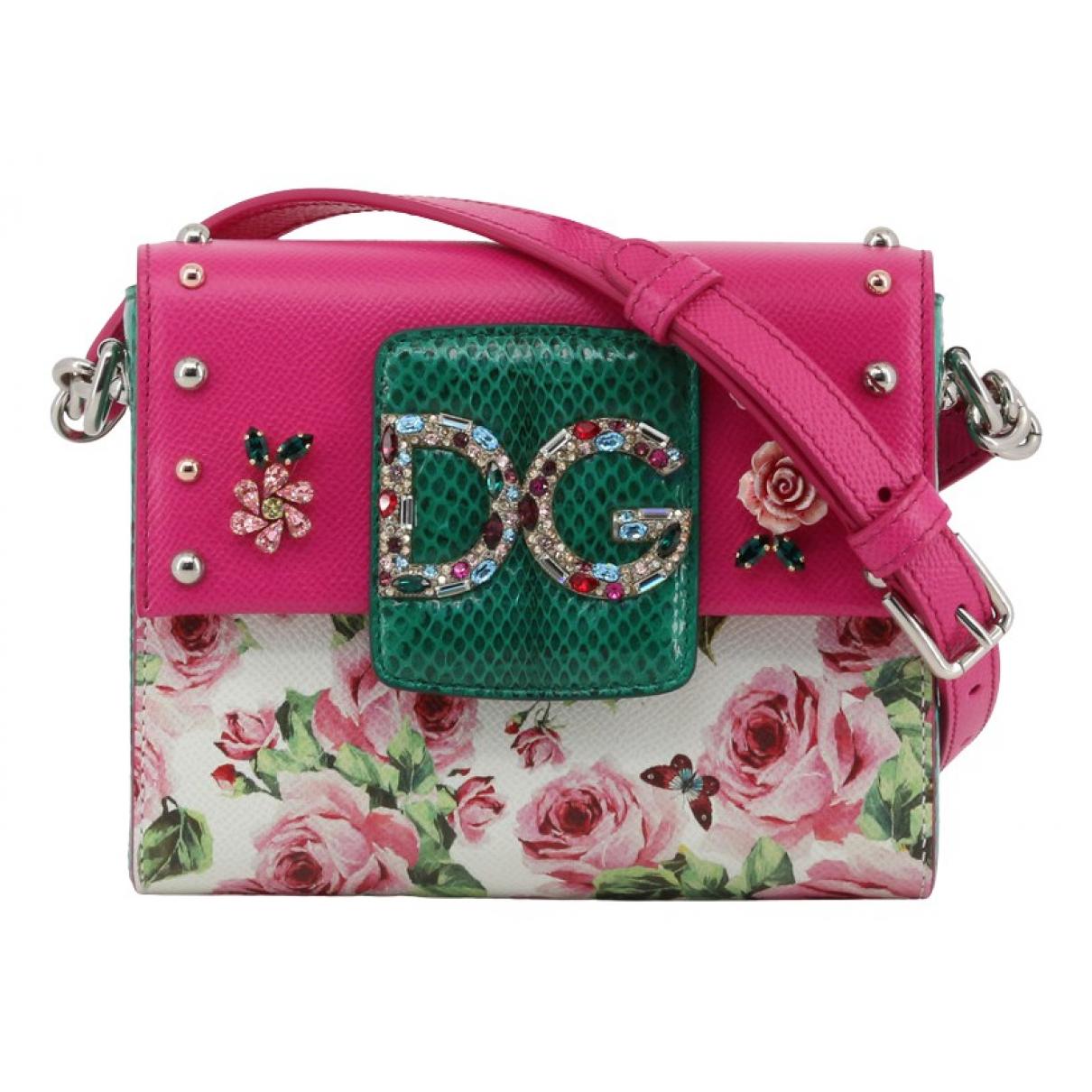 Dolce & Gabbana - Sac a main   pour femme en cuir - multicolore