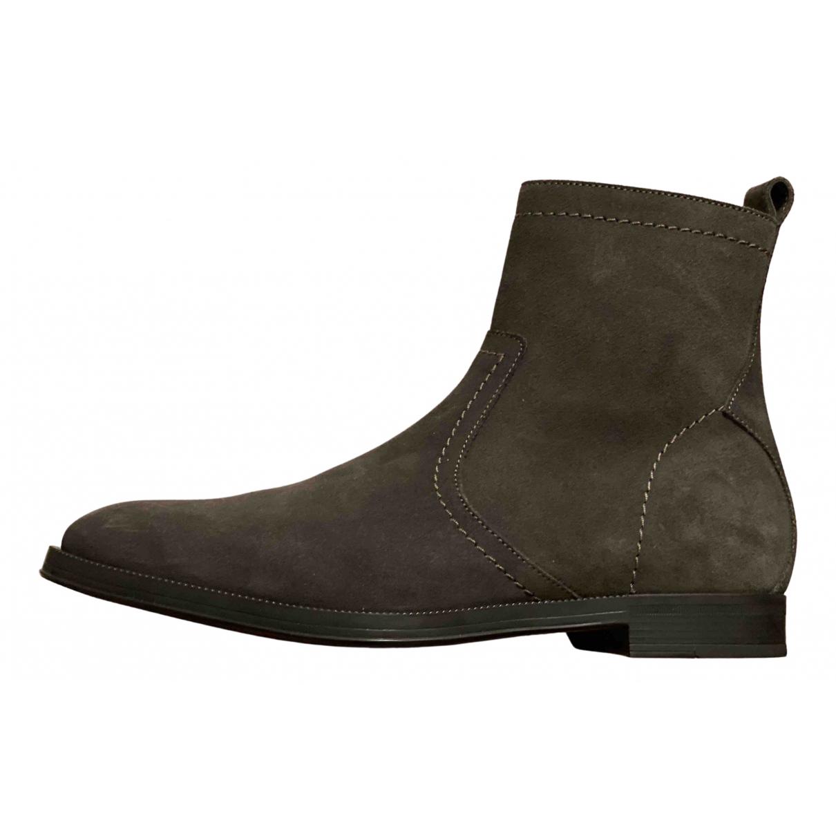 Jimmy Choo \N Grey Suede Boots for Men 40 EU
