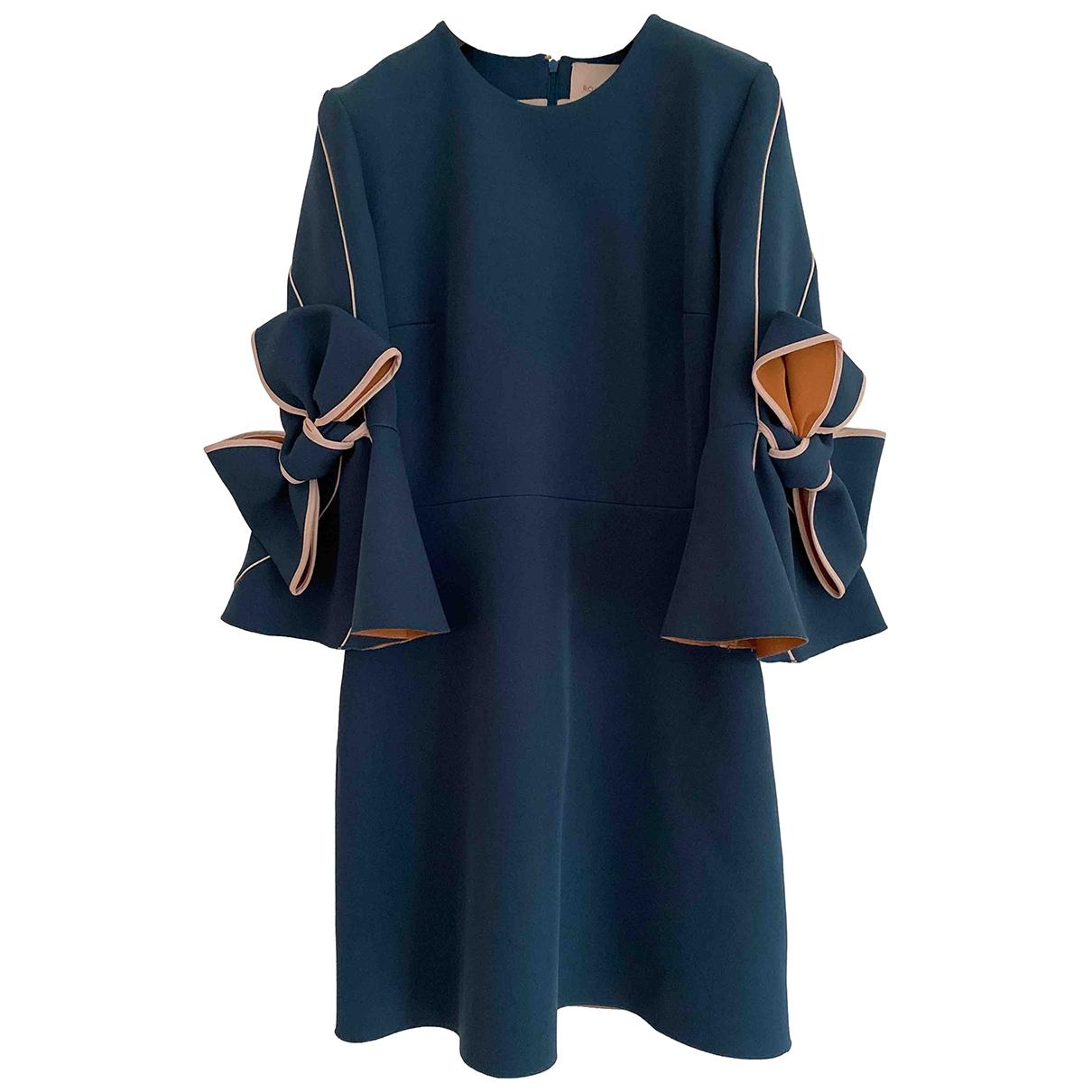 Roksanda - Robe   pour femme en soie - bleu