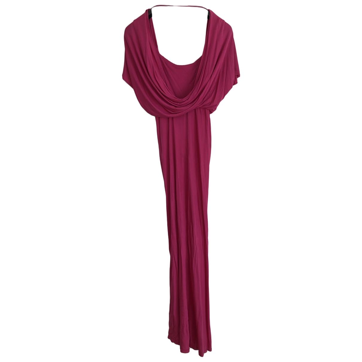 John Galliano \N Kleid in  Rosa Viskose