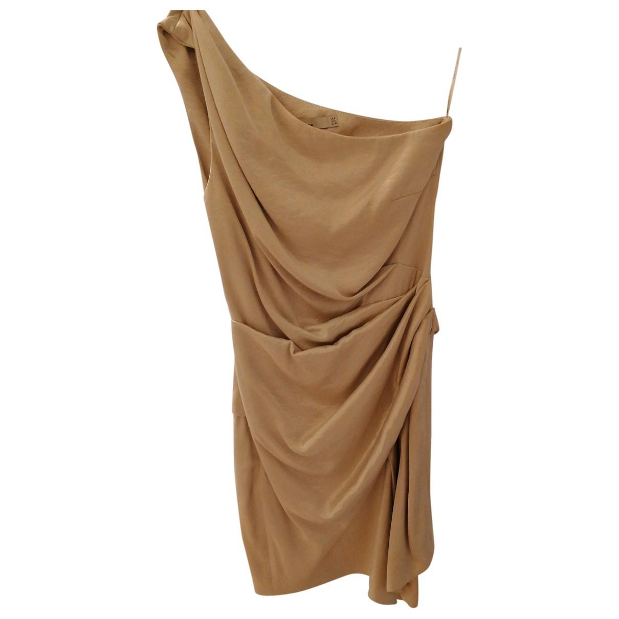 Karen Millen \N Kleid in  Gold Viskose