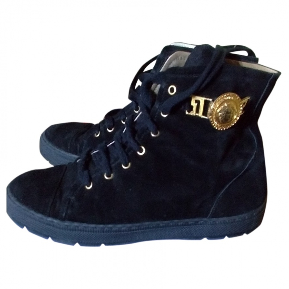 Versace \N Black Suede Trainers for Women 37 IT