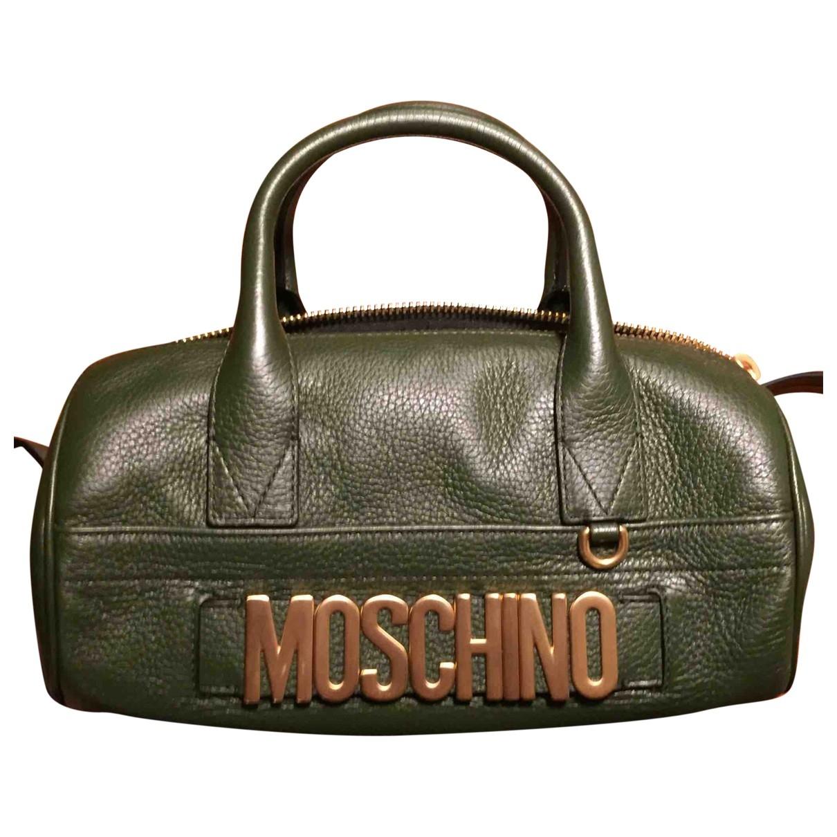 Moschino \N Handtasche in  Gruen Leder