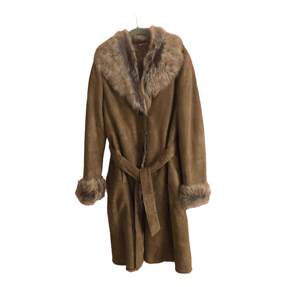 Massimo Dutti \N Beige Shearling coat for Women 34 FR