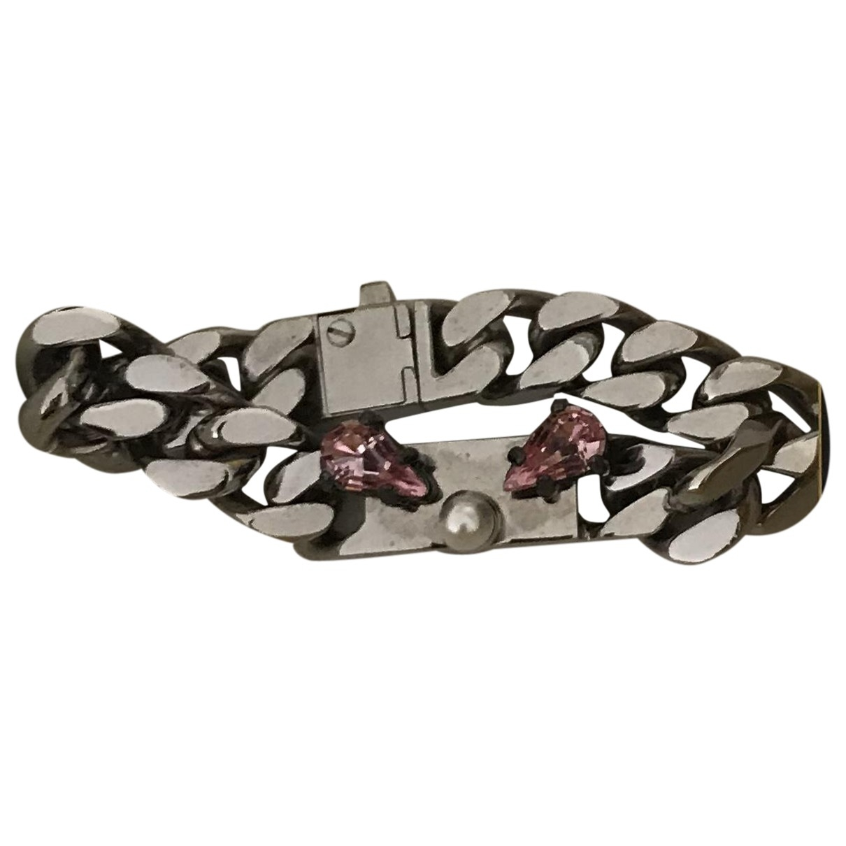 Fendi \N Armband in  Weiss Metall