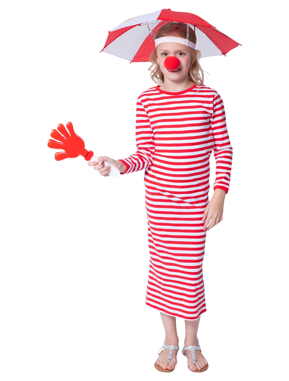 Rivelhemd langarm rot/weiss Kinder